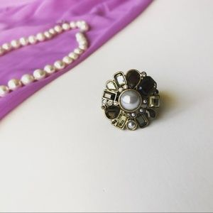 Athena Pearl Cocktail Ring! Size 10